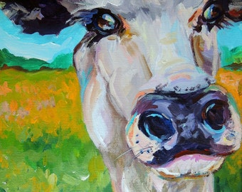 SHELBY - fine art cow painting