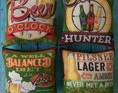 Set of 4 Man Cave Beer Ornies