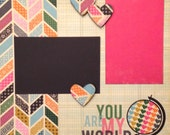 Scrapbook Page Kit Family Friends 2 Page 12x12 Scrapbooking Layout Premade Pages