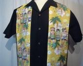 Star Trek Tiki Shirt  Kirk and Spock Hawaiian Tiki
