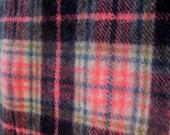 Vintage Bright Pink Wool Plaid Blanket With Label Glen Arran Homecraft  Made in Ireland