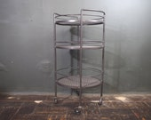 RESERVED Industrial Round Drinks Cart / Crate