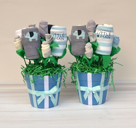Baby Gift Baskets For Triplets : Twin baby boys gift boy shower by babyblossomco