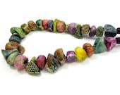 BARGAIN BUNDLE - Ceramic Clay Bead Mix - Craft Jewellery Beads  No. 286