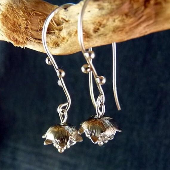 Elves earrings Sterling Silver Earrings Handmade Metalwork Original Unique