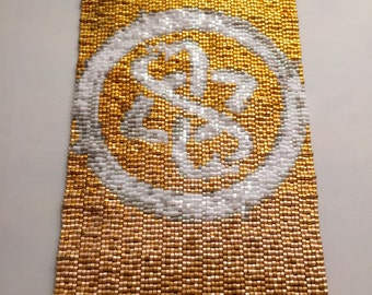 Gold Snake Peyote Stitch Cuff Bracelet