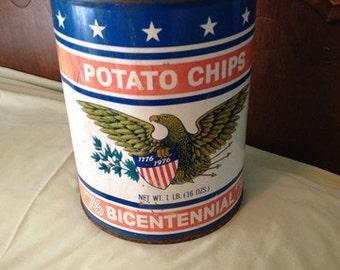 Potato Chip Tin Bicentenial