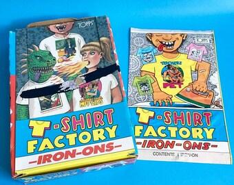 1980s Topps T-Shirt Factory Iron Ons 80s retro t shirt tee cartoons graphics transfer gross