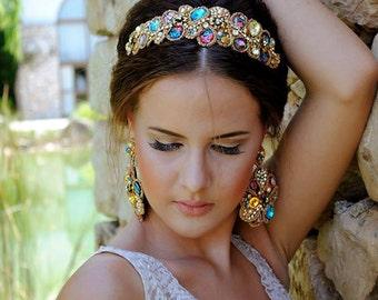 Handmade and unique tiara - wedding tiara - high quality - wedding crown - custom made