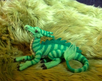 Small needle felted dragon