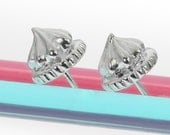 Silver Mini Iced Gem Earrings