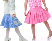 Girls Skirt Pattern with Skort and Pleated, Ruffled, and Circle options, PDF Sewing Pattern - by Scientific Seamstress