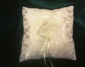 Ivory Lace and Satin Ring Bearer Pillow