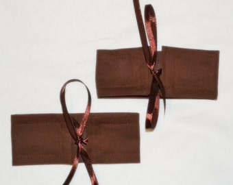 2 CHOCOLATE Brown Curtain Tieback Cuffs - See my shop for lots of other colours available