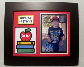 First Day of School Photo Keepsake Mat - Personalized - Back To School Picture Mat - Unframed
