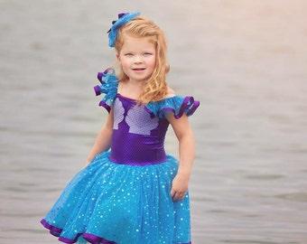 Ariel inspired dress mermaid  tutu size 4t