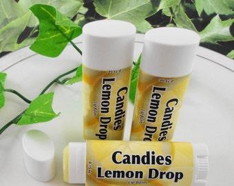SoapGarden Lip Balm - Candies Lemon Drop  Lip Balm - Handcrafted - Sweetened