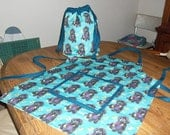 Handmade Oneof a Kind tote and matching apron
