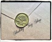Tree Country Wedding Wax seal set of 25