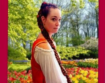 custom long hair braid extension renaissance plait Long braided faire festival medieval accessories costume wig hairpiece plaited sca garb