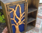 Rustic Home Decor - Storage Cabinet - Shelf - Shelving - Artistic Furniture - Wall Shelf - Tree Cabinet - 22 Tall x 20 Wide x 6  Deep
