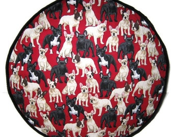 French Bull Dogs Pouffe Foot Rest Floor Cushion Pouf