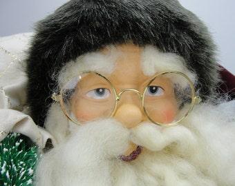 "Large vintage Santa, old world santa, olde world santa  25"" santa NOS"