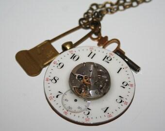 Steampunk Pendant - Vintage Components