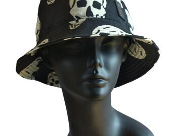 Batik Skull Bucket Hat