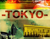 Tokyo Canvas Giclee Print - Limited Edition of One / Japan / Original / City Scape / Wall Art / Cities / Photography