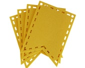 Yellow Cutout Laser Cut Flags for Banners and Buntings DIY