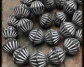 African Tribal Fire Polish 11mm  Beads