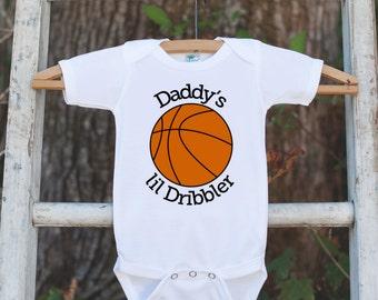 Basketball baby etsy daddys lil dribbler bodysuit basketball onepiece bodysuit basketball outfit boys romper novelty negle Choice Image