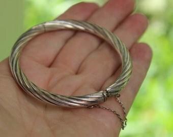Sterling Bangle Bracelet Twisted  925 VINTAGE by Plantdreaming