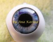 Blythe eye chips OOAK REALISTIC custom set H21, by Ana Karina. UV laminated