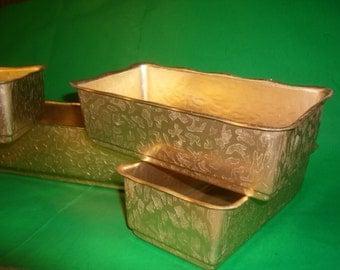 Gold Aluminum Embossed Planters in 2 Sizes