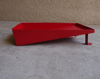 Vintage Paint Roller Tray Pan Metal Red Painting Storage Organization Industrial Crafting Supplies Home Decor