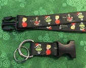 The Grinch Who Stole Christmas Lanyard with removable key chain end