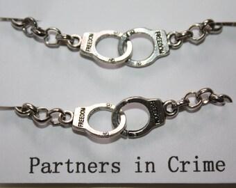 Partners in Crime Handcuff Bracelet