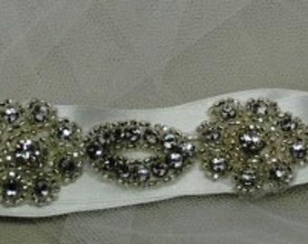 Rhinestone bridal sash for the bride, maid of honor, bridesmaids