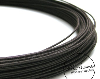 1.2mm (16 Gauge) Extra Firm Cotton Covered Millinery Wire For Hat Making, Flower Making - Brown