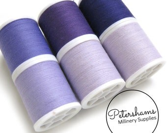 Purple Thread Collection - 6 Shades of Polyester Thread on 100 yard Spools