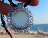 RESERVED: Mermaid Tears -  Organic Genuine Amalfi clear  Sea Glass - clear white