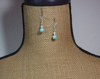 Pearls and 925 Silver Earrings
