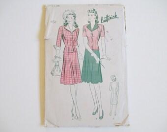 Vintage Two-Piece Suit Frock, Size 20, Butterick 2548