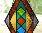NEW Multicolored Stained Glass Diamond