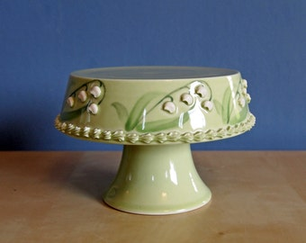 """5"""" cupcake stand in lily of the valley"""