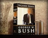 Hollow Book Safe & Flask (George W. Bush Decision Points)