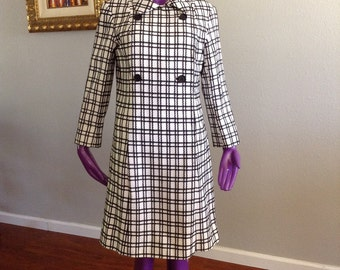 Vintage 1960s MOD Shift Dress Vintage Plaid Dress
