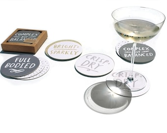 Wine Notes Coasters - set of 12